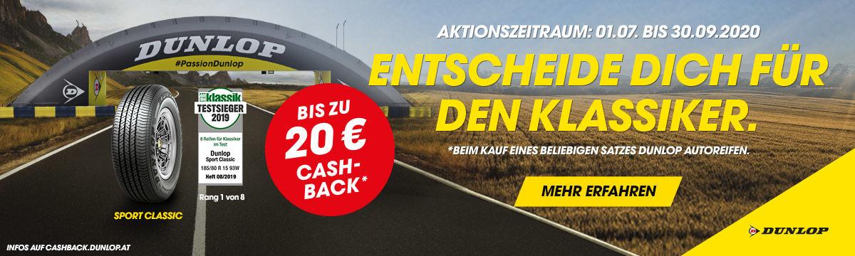 Cashback Aktion Dunlop